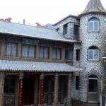 Traditional Chinese house decorated with seashell mosaics