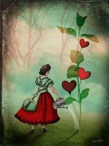 Vintage inspired collage illustration by Catrin Welz-Stein