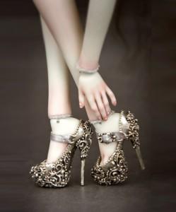 Shoes, Elena the beautiful, detail. Artwork by Doll master Marina Bychkova