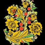 Traditional Khokhloma painting