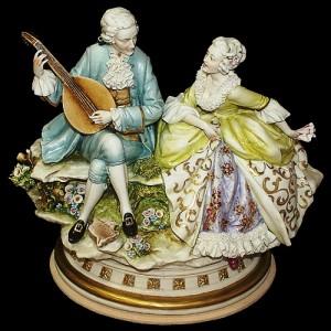 the Baroque era musician, romantic figurines