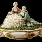 Barocco epoch musician, romantic figurines