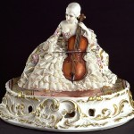 Viola player, lace porcelain figurines