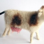 Miniature felted toys by Marina Nikitina