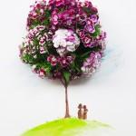 When flowers meet watercolor