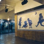 Mosaic mural by Liliana Porter Alice – The Way Out