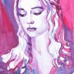 ValrArt watercolor portraits. Ukrainian artist Valentina Ra