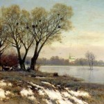 Painting by Russian landscape painter Konstantin Kryzhitsky