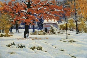 Painting by Russian landscape painter Konstantin Kryzhitsky