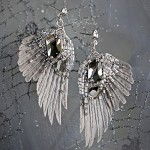 """Silver Rain"" earrings, created by Julia Gorina"