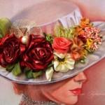 Tetiana Korobeinyk ribbon painting