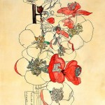 Japonica. Charles Rennie Mackintosh. Copy. Painting by Moscow based Elina Forget-me-not