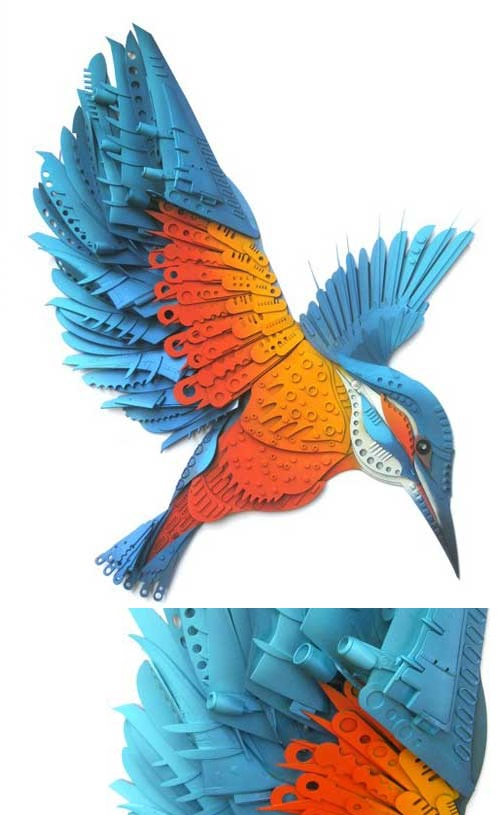Kingfisher Logo Art Kaleidoscope