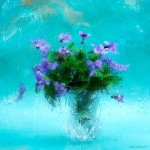 Bouquet of violets. Still life. Photographer Vasily Cheshenov