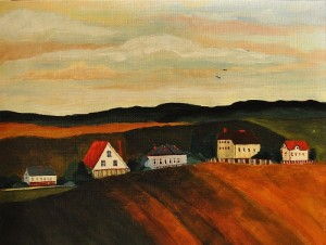 Suburbs of Moscow. Painting by Moscow based Elina Forget-me-not