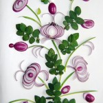 Beautiful Petrikovka onion art by Ukrainian food artist Tamara Bondar