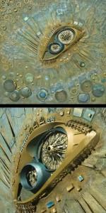 Recycled art by Indian sculptor Haribaabu Naatesam