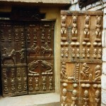 Traditional African doors art