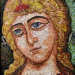 Golden haired angel. Mandjos Mosaic art