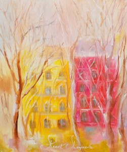 Crayons for pastel drawing can be soft and hard (oil, wax). Annet Loginova uses soft pastels by thoroughly crushed clay with the highest quality pigments, which turns pastel into soft, leaving an intense velvety trail. Pastel does not fade in the sun, does not darken or crack even under the influence of significant temperature changes. In her paintings, Annet Loginova uses pastels from high quality materials with the addition of pigments, clay, oils, chalk and other components. Her pastel is hand-made. Drawing with this material requires the use of special paper with the effect of roughness.