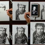 Ian Somerhalder Drawing Process Images