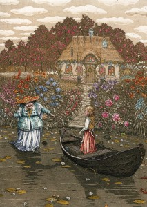 Gerda next visits an old sorceress with a beautiful garden of eternal summer