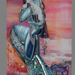 Batik artist Olga Petrenko