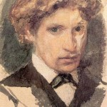Mikhail Vrubel. Self-portrait, 1882