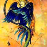 Mythological bird Sirin