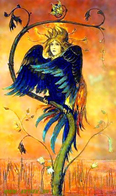 Mythological bird Sirin