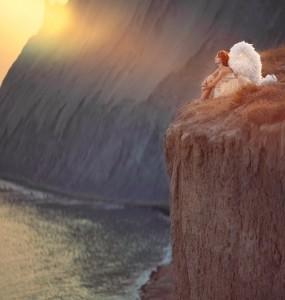 Angel on the edge. Photography by Anka Zhuravleva