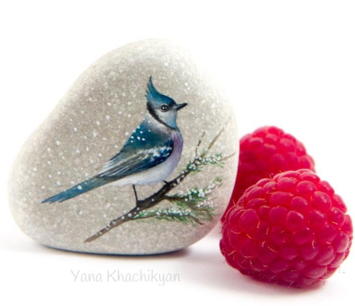 Raspberry and bird