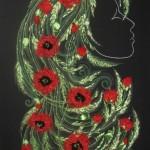 Ribbon embroidery by Olesya Kruchinskaya