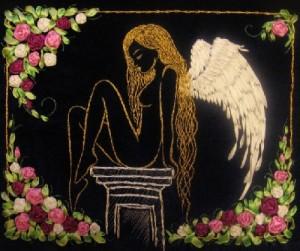 atin ribbon embroidery by Olesya Kruchinskaya