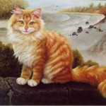 Beautiful cat. The art exhibition in Moscow Arena 'Cats in Manezh' (30 December 2014 to 20 January 2015)