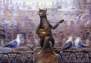 Inspired by cats art exhibition in Moscow Arena 'Cats in Manezh' (30 December 2014 to 20 January 2015)