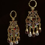 Traditional Russian Earrings, work by master jeweler Timofei Zhuravlev