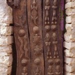 Dogon, Mali, carved door