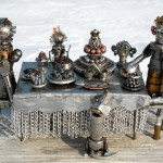 Metal junk sculptures by Andrey K