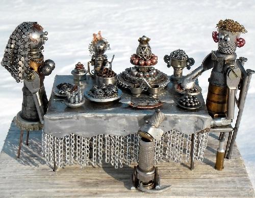 Metal Junk Sculptures By Andrey K Art Kaleidoscope