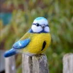 Miniature Felted birds by Natalia Linkova