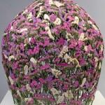 Wonderful dried flower sculpture by Spanish artist Ignacio Canales Aracil