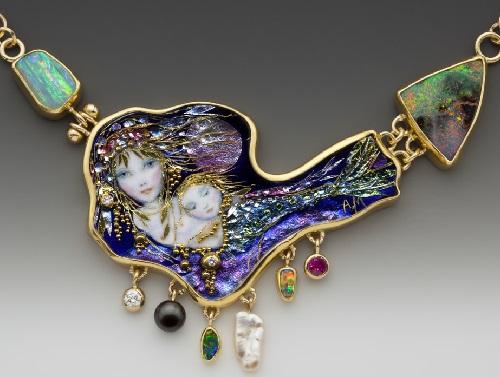 Jewelry 2018 >> Handcrafted Enamel by Jewelry Artists Mona & Alex Szabados (1) - Art Kaleidoscope
