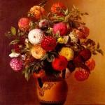 Colorful dahlia. Johan Laurentz Jensen Flower painting