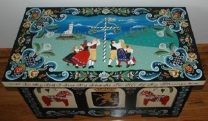 Traditional Norwegian painting Rosemaling