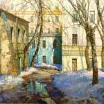 Oil painting by Yuri Obukhov