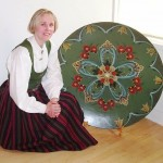 Traditional Norwegian painting Rosemaling