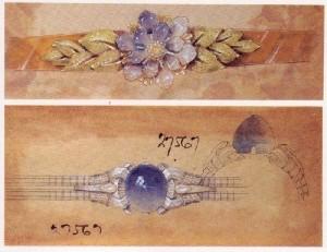 Jewelry sketch art