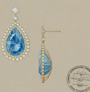 Tiffany jewelry sketches