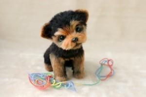 An adorable puppy. Felted toys by Nadezhda Micheyeva